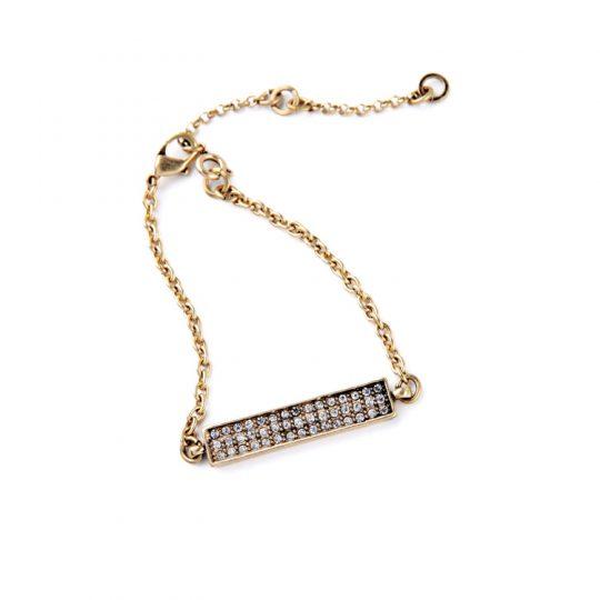 Gold Bar Pave Bracelet 3