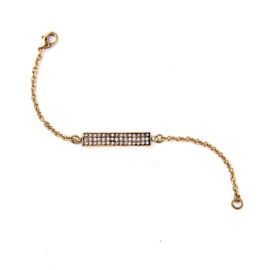 Gold Bar Pave Bracelet 4