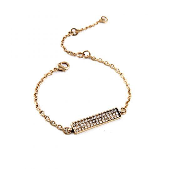 Gold Bar Pave Bracelet 5