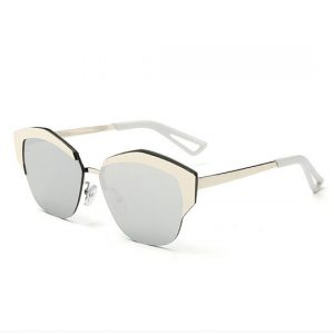 silver lens gold sunglasses