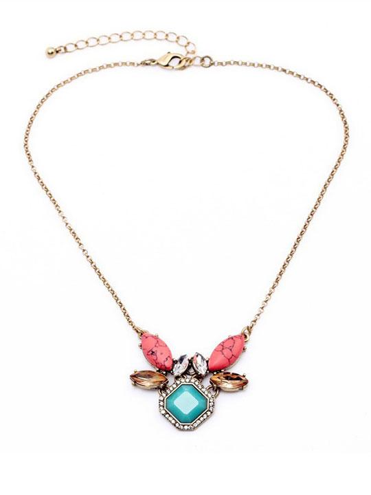 Coastal Turquoise Stone Necklace