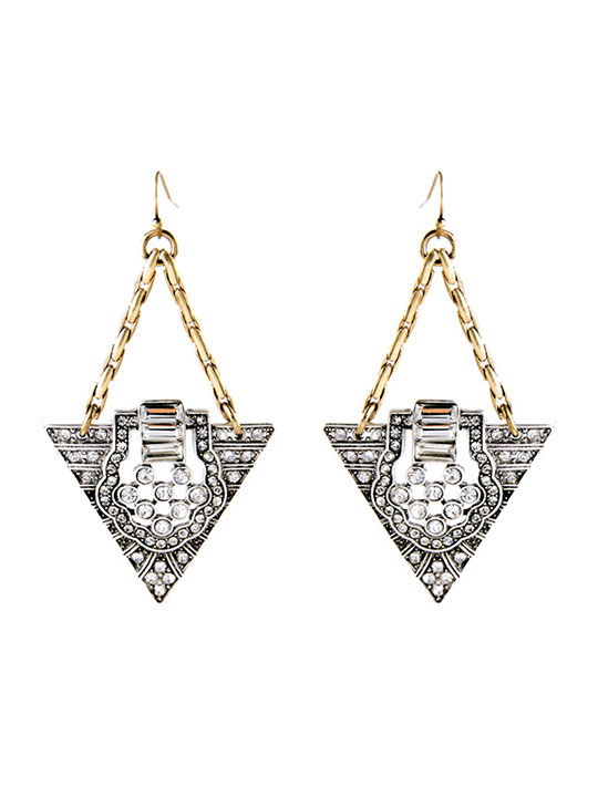 triangle deco drop earrings hello supply modern jewelry. Black Bedroom Furniture Sets. Home Design Ideas