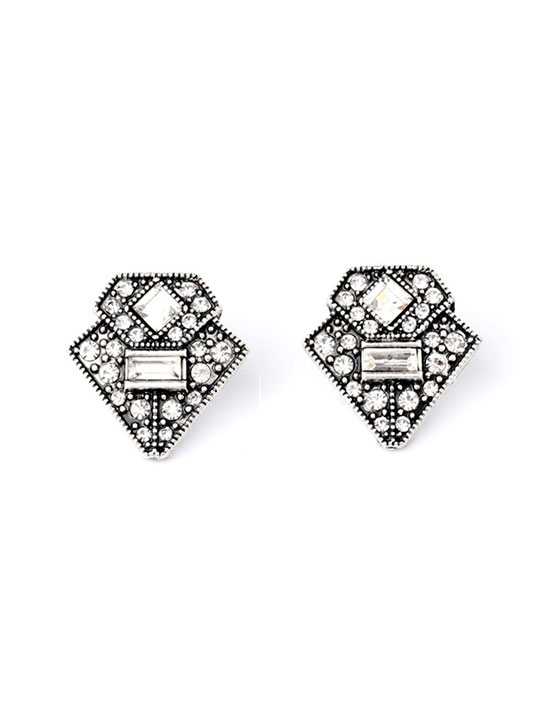 deco drop stud earrings