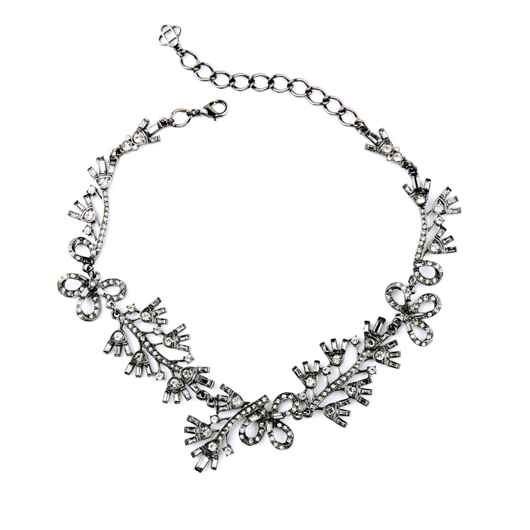 Floral Cystal Statement Necklace