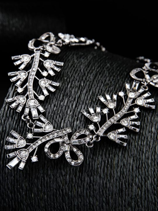 Floral Cystal Statement Necklace 2