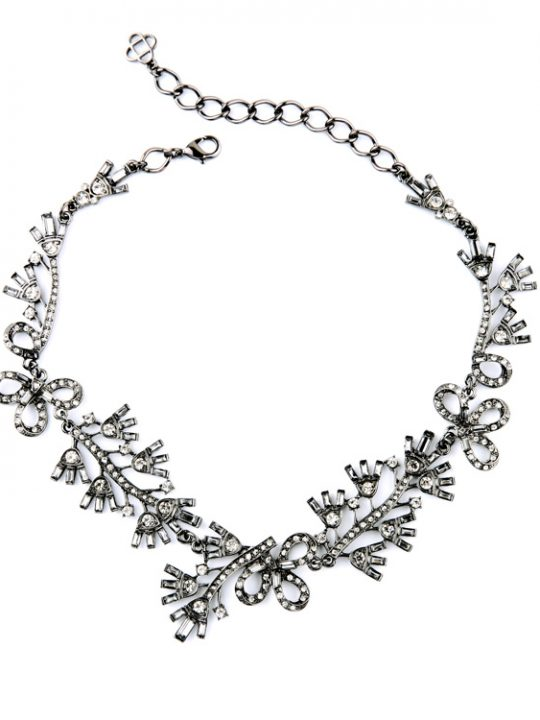 Floral Cystal Statement Necklace 4