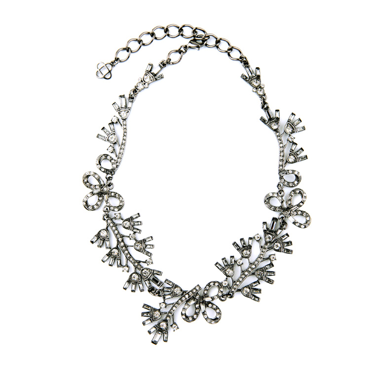 Floral Cystal Statement Necklace 5