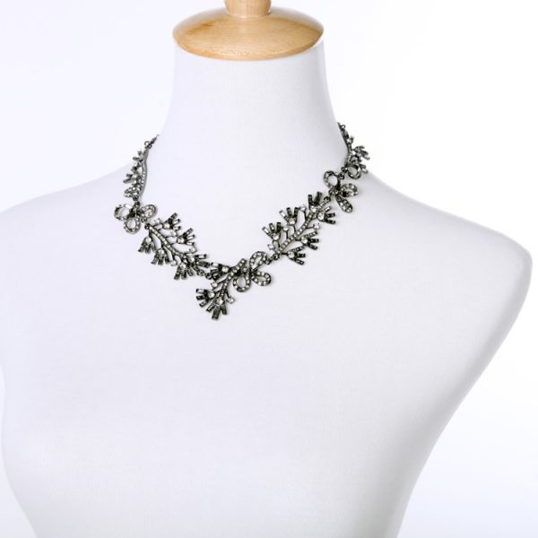 Floral Cystal Statement Necklace 6
