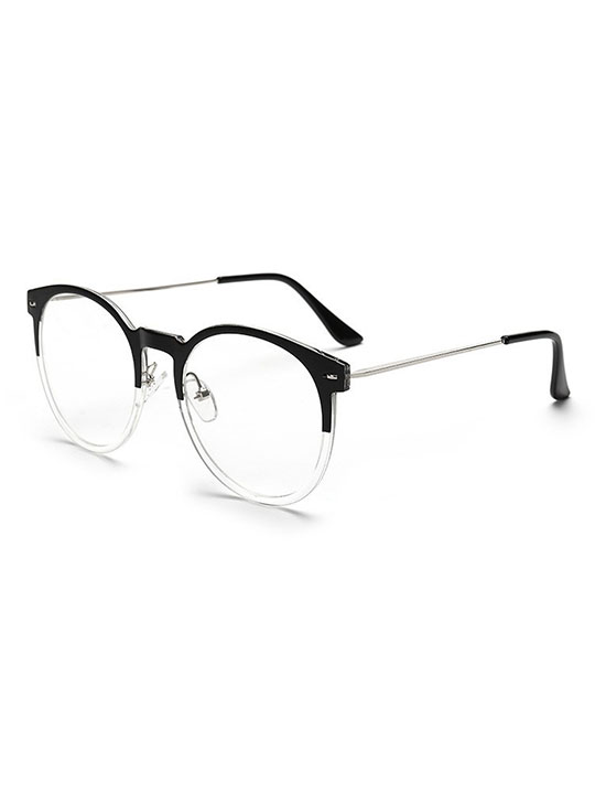 no 23 clear black round eyeglasses hello supply modern jewelry
