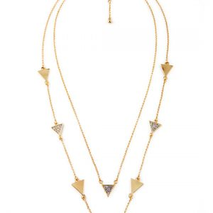 triangle pave stone necklace