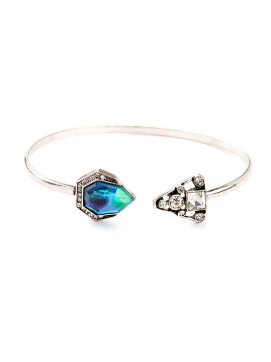 blue iridescent bracelet
