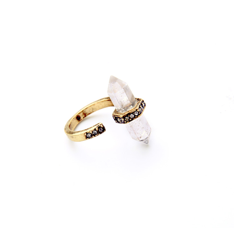clear natural stone pave ring 3