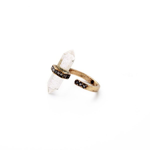 clear natural stone pave ring 4