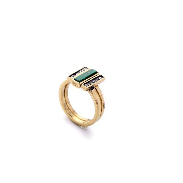 malachite ring set 2