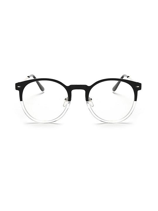 no 23 clear black round eyeglasses hello supply modern jewelry