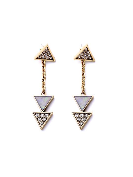 opalite chandlier earrings
