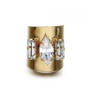 crystal cuff ring