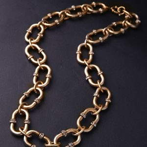 gold chain link collar necklace