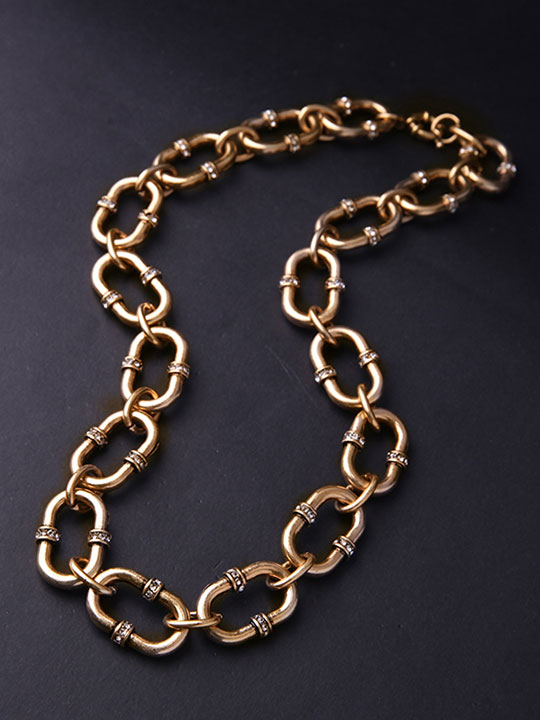 Bevel-Stone-Chain-Link-Collar-Necklace