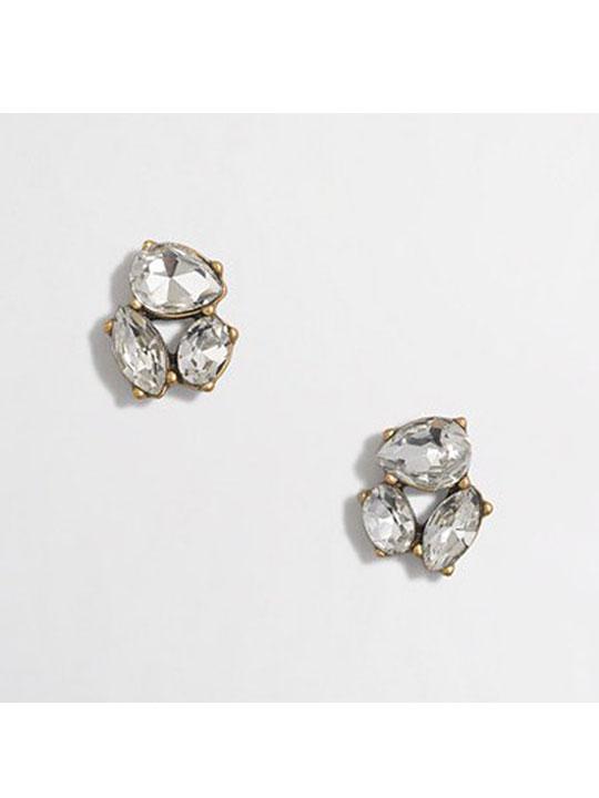 luxury crystal studs
