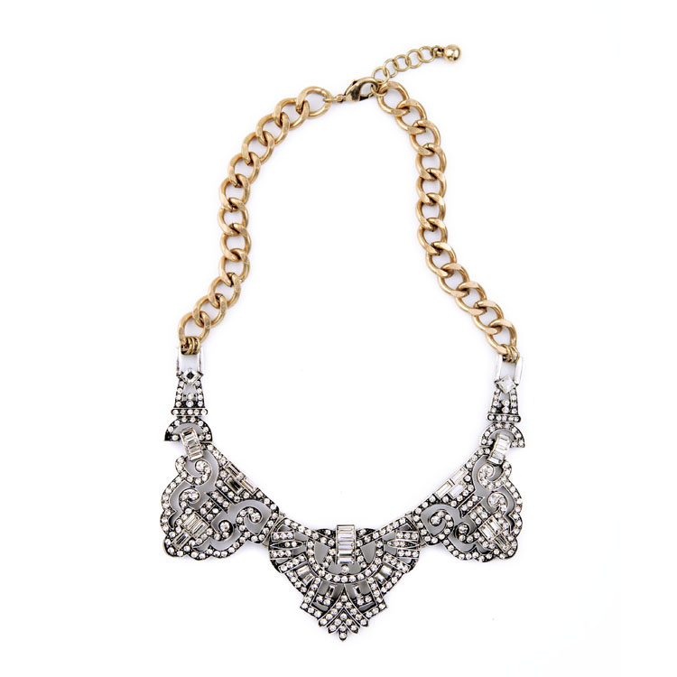 epic crystal statement necklace