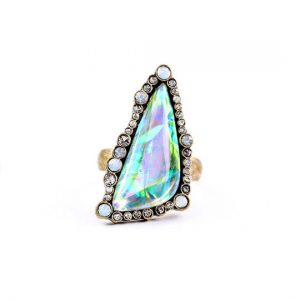 iridescent shell ring