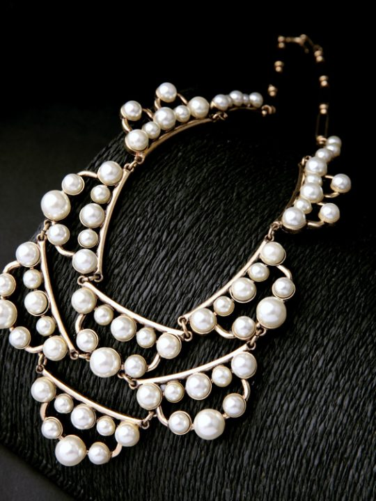 pearl cluster statement necklace 10