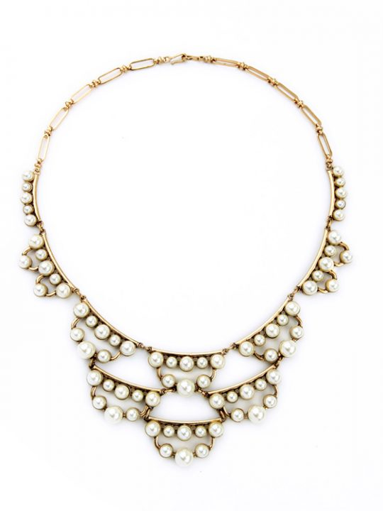 pearl cluster statement necklace 11