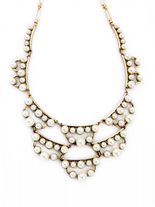pearl cluster statement necklace 2