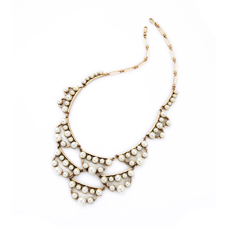 pearl cluster statement necklace 3