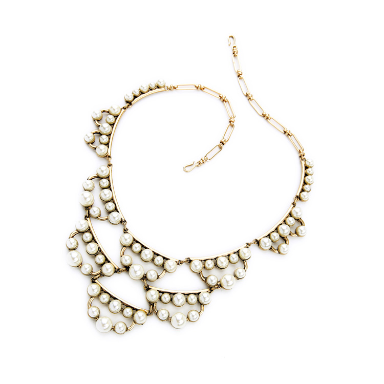pearl cluster statement necklace 4