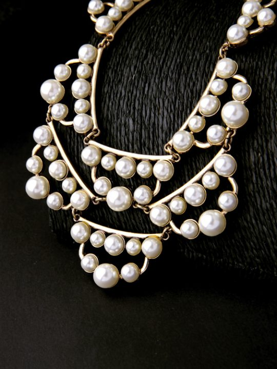 pearl cluster statement necklace 5