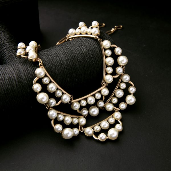 pearl cluster statement necklace 6