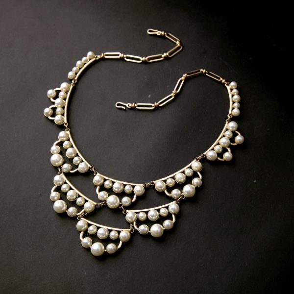 pearl cluster statement necklace 7