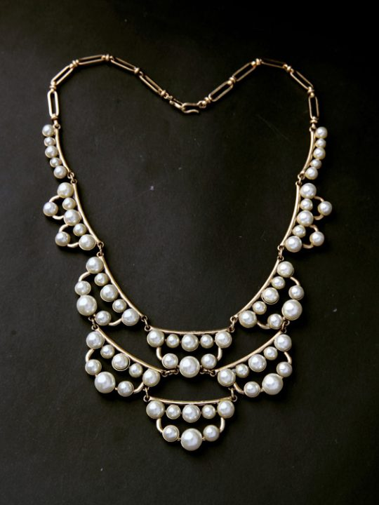 pearl cluster statement necklace 9