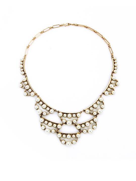 layer pearl statement necklace