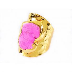 agate pink ring