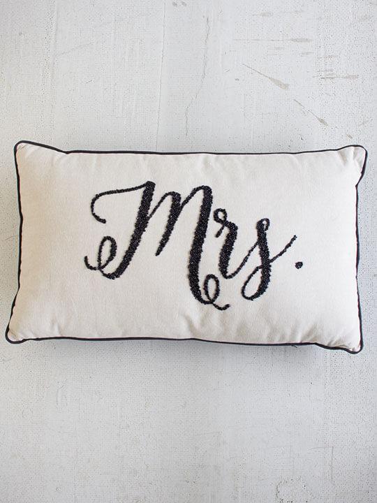 mrs wedding pillow