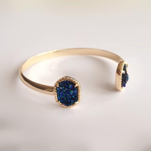 blue titanium druzy bracelet