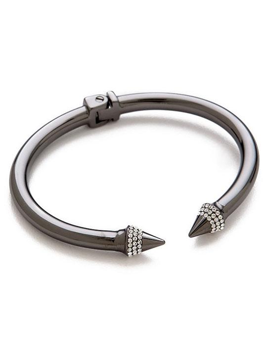 gunmetal open bracelet
