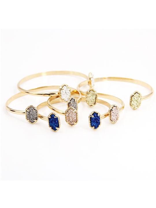 Anium Druzy Bangle Bracelet