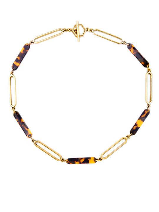 tortoise collar necklace