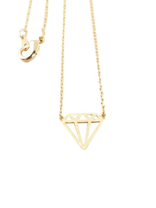 diamond silhouette necklace