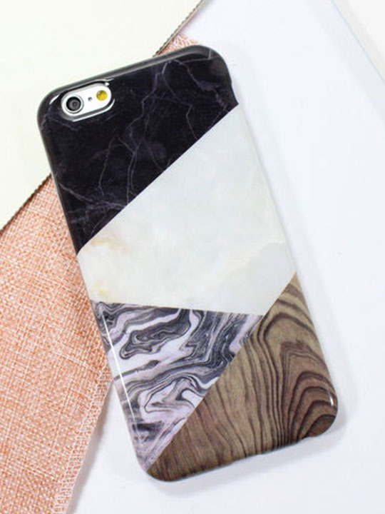 wood marble iphone case
