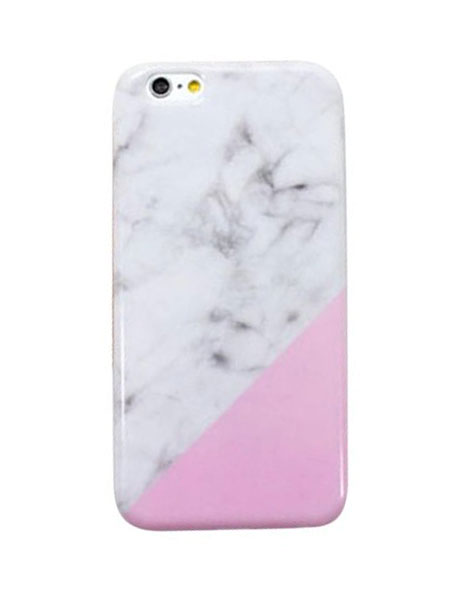 pink white marble iphone 6 cover
