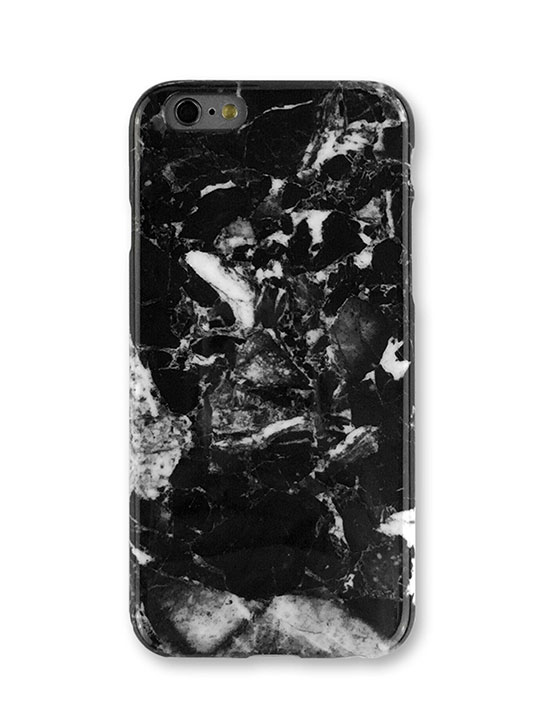 black marble iphone cover