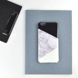black white marble iphone