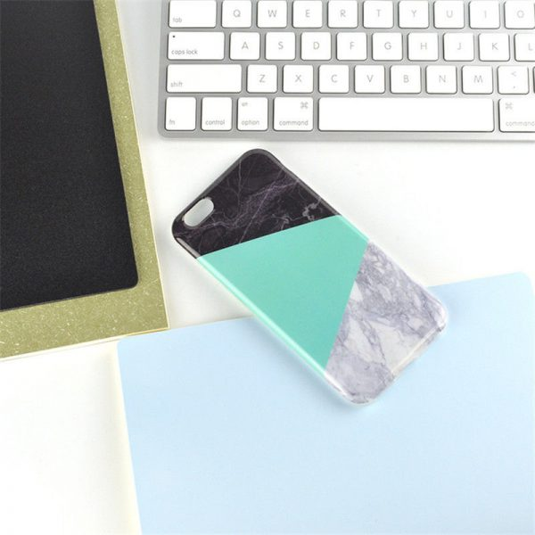 mint green marble iphone cover