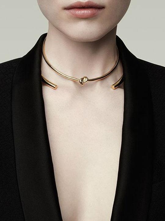 knot choker necklace