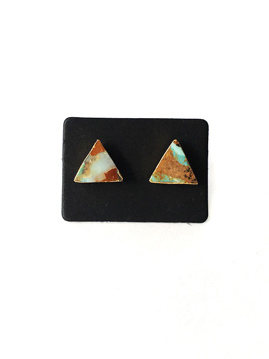 color Marble Stud Earrings